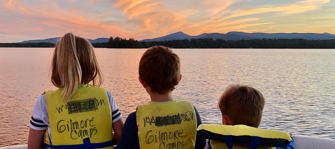 kezar-lake-camp-rental-sunset